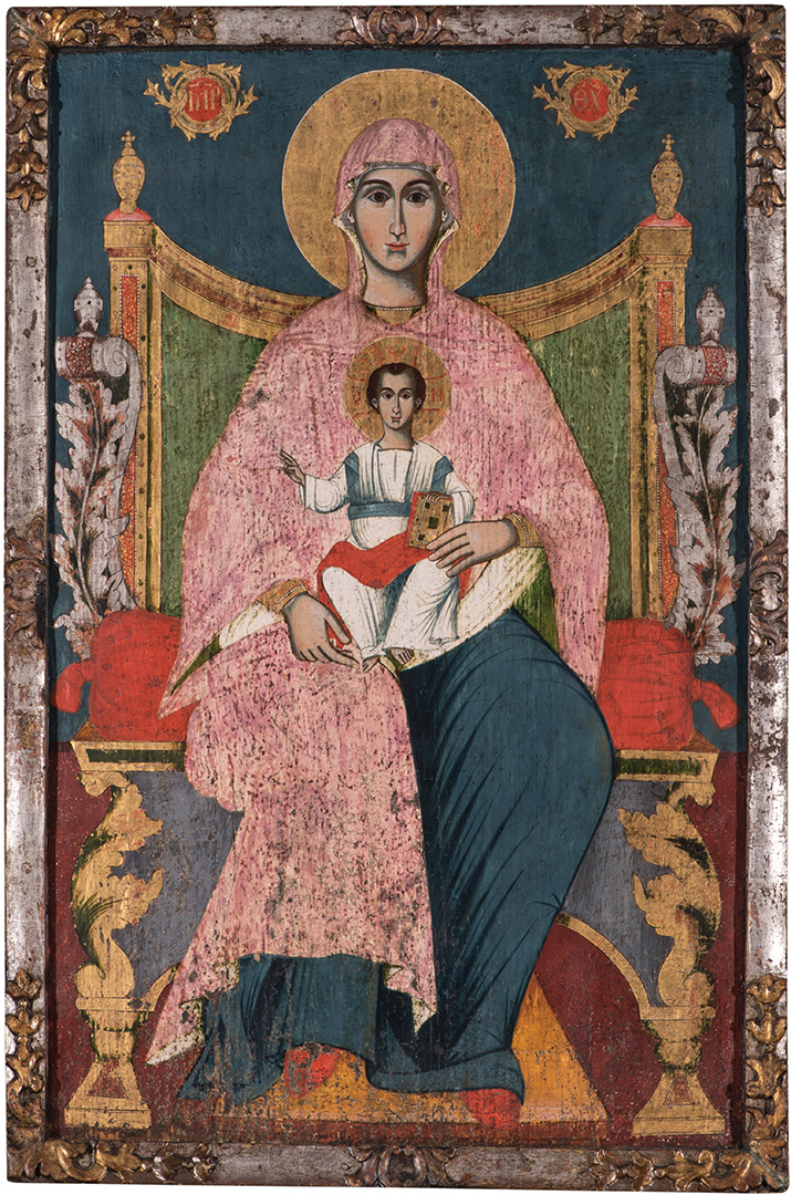 Непознати иконописац XVIII века, Богородица са Христом, око 1750.