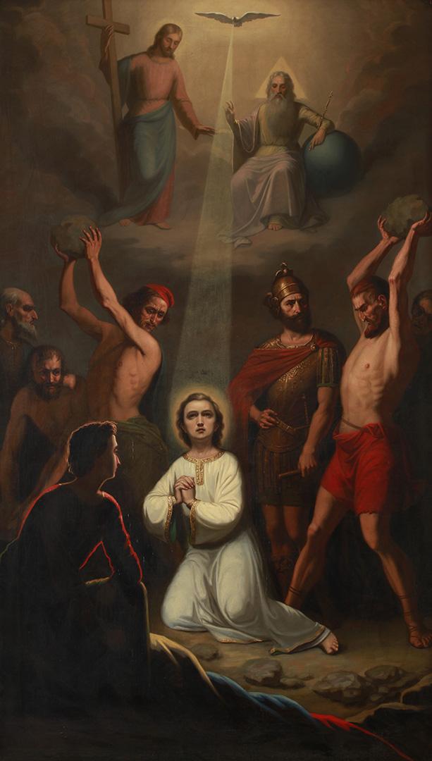 Новак Радонић, Каменовање Светог Сетафaна, 1857.