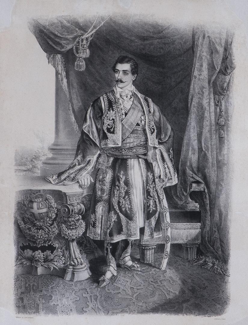 . Анастас Јовановић, Михаило Обреновић, 1848.