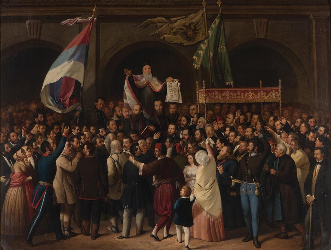 Павле Симић, Мајска скупштина, 1848–49.