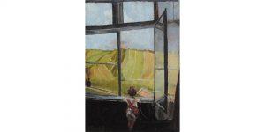 У фокусу - Јудита Ајзенхут (Бачка Паланка, 1901 – после 1922) Дете на прозору, 1920–1930.